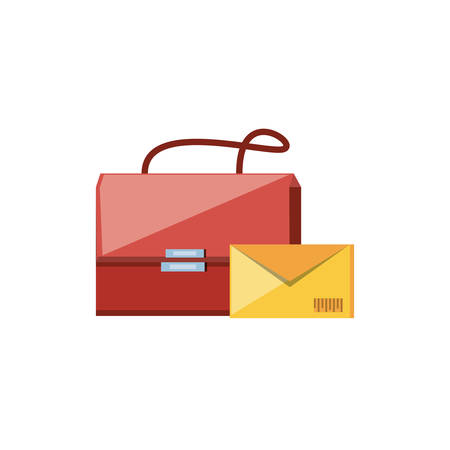 post bag handle with envelope vector illustration design