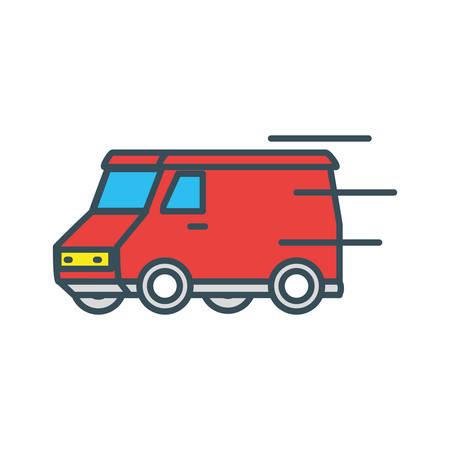 delivery service van icon vector illustration design