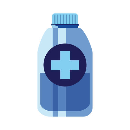 vaccination medical bottle cross pharmacy vector illustration Ilustrace