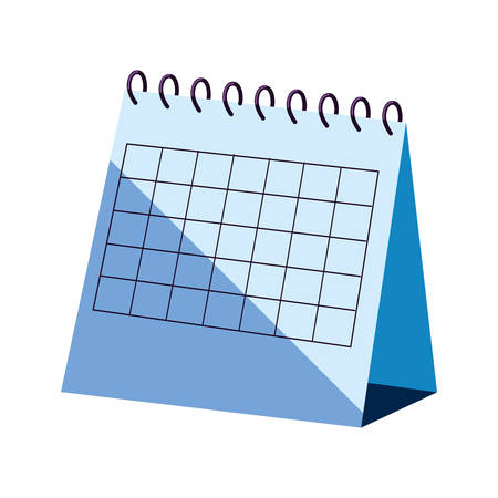 calendar reminder planner on white background vector illustration Ilustração