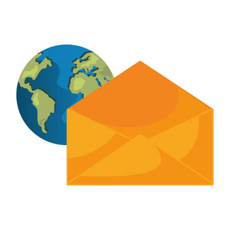 world email message connection vector illustration design
