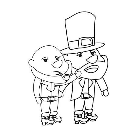 leprechauns characters happy st patricks day vector illustration Illustration