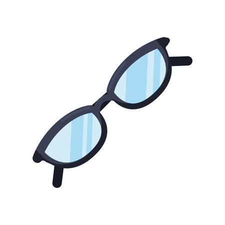 eyeglasses optical accessory on white background vector illustration