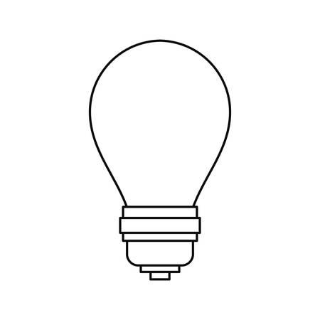 light bulb electricity on white background vector illustration 写真素材 - 124882335