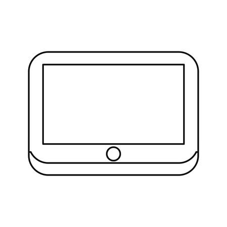 tablet computer tech on white background vector illustration
