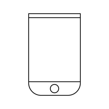 smartphone device tech on white background vector illustration Çizim