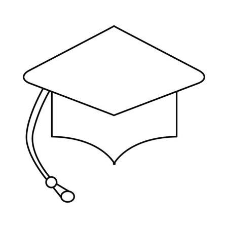 graduation hat school on white background vector illustration Stock Illustratie