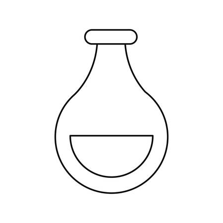 science laboratory beaker on white background vector illustration Çizim