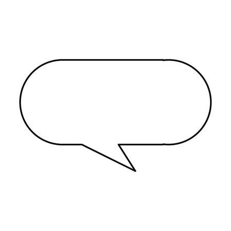 speech bubble message on white background vector illustration
