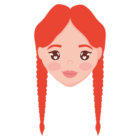 irish woman head character vector illustration design