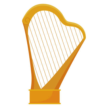 harp instrument isolated icon vector illustration design  イラスト・ベクター素材