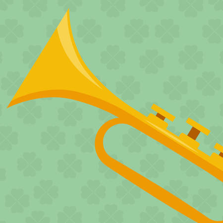 trumpet musical instrument icon vector illustration design Stock Vector - 124882504