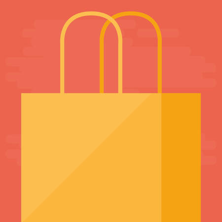 shopping bag isolated icon vector illustration design Stock Vector - 124841387