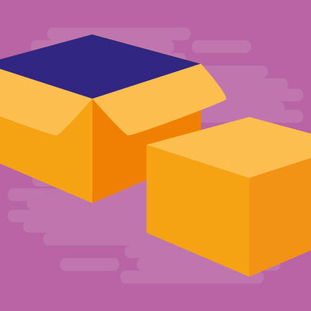 box carton packing icon vector illustration design Standard-Bild - 124841403