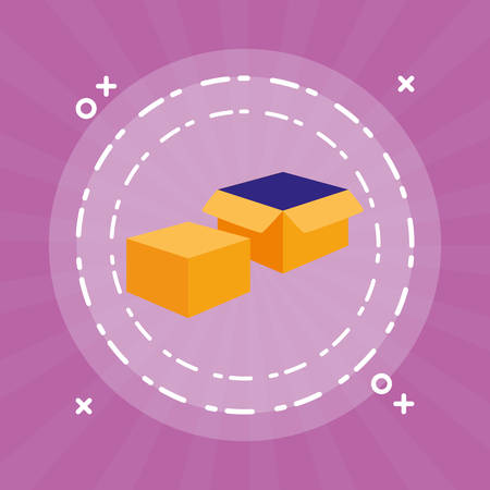 box carton packing icon vector illustration design Standard-Bild - 124841424