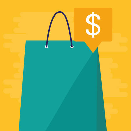 shopping bag isolated icon vector illustration design Stock Vector - 124841433