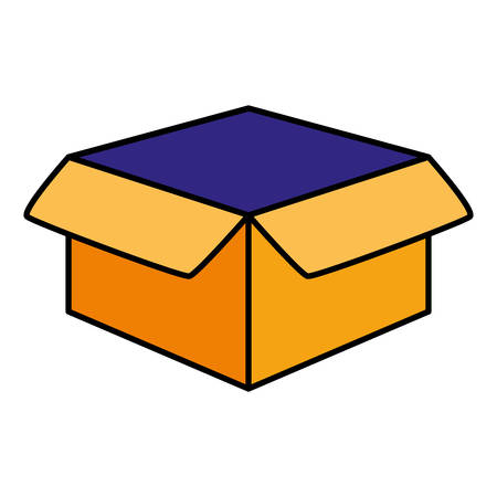 box carton packing icon vector illustration design Standard-Bild - 124841468