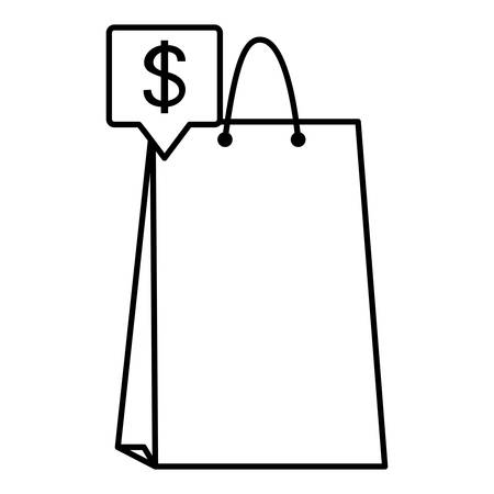 shopping bag isolated icon vector illustration design