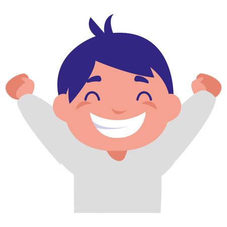 happy fat boy celebrating vector illustration design