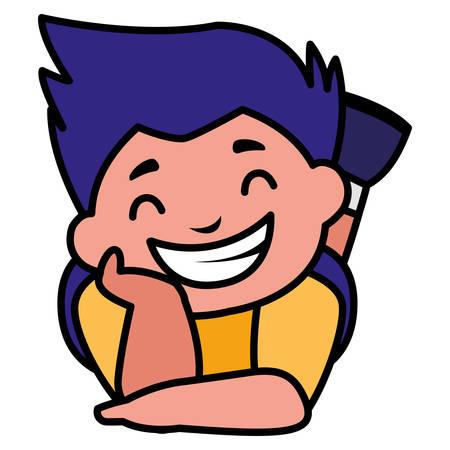 happy fat boy character vector illustration design Illustration
