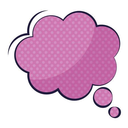 dream cloud pop art style vector illustration design