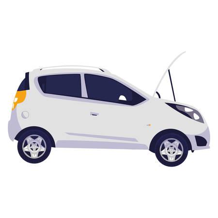 car vehicle sedan open bumper vector illustration design