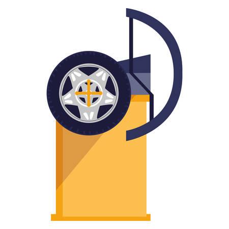 tire changer machine icon vector illustration design