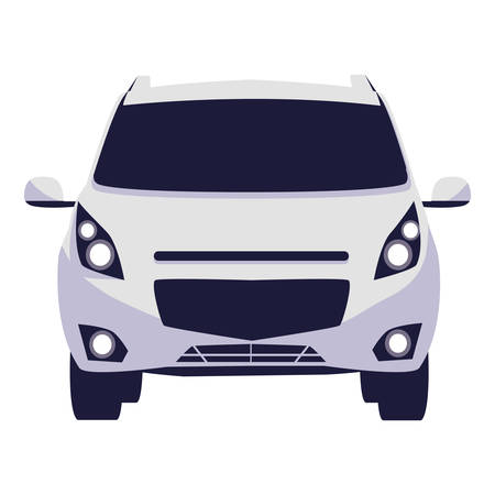 car vehicle sedan front vector illustration design Illustration