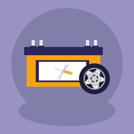 electric battery car icon vector illustration design Ilustração