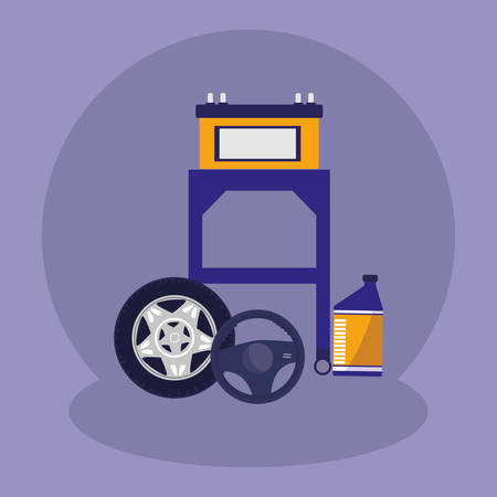 electric battery car icon vector illustration design