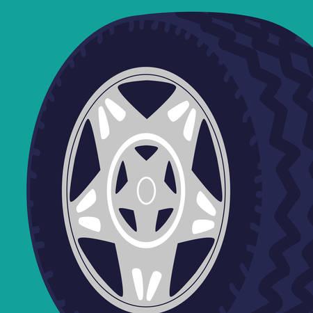 tire car wheel icon vector illustration design Иллюстрация