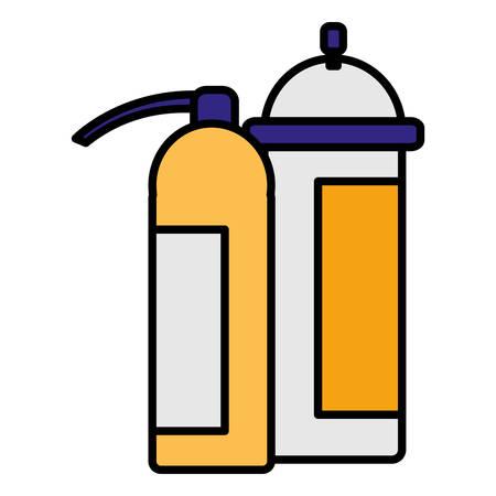 extinguisher fire equipment icon vector illustration design Иллюстрация