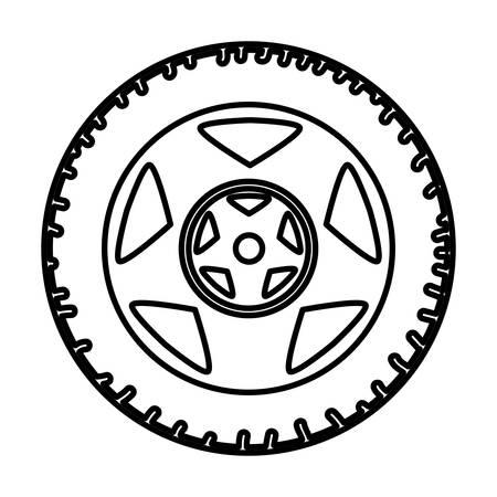 tire car wheel icon vector illustration design Çizim