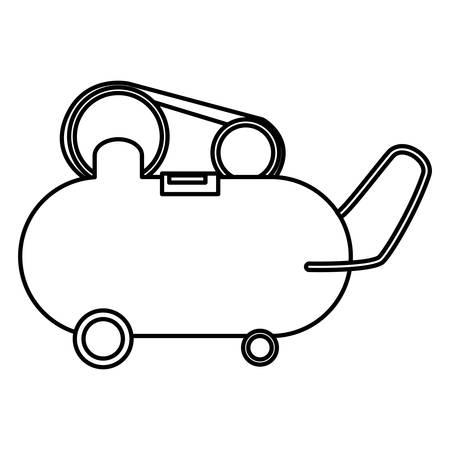 compressor air mechanic icon vector illustration design Иллюстрация