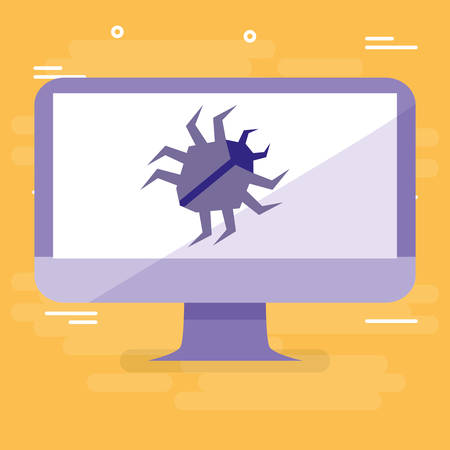 bug animal in desktop vector illustration design