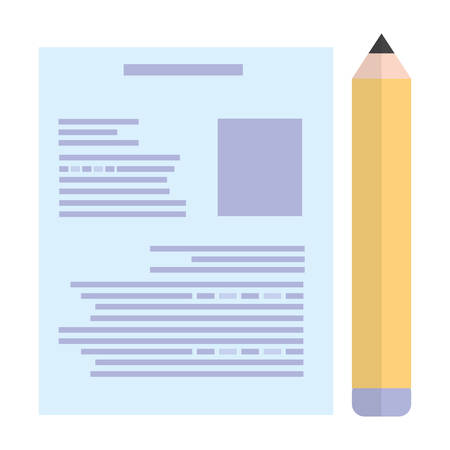 paper document with pencil vector illustration design Illustration