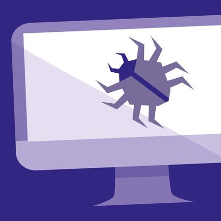 bug animal in desktop vector illustration design