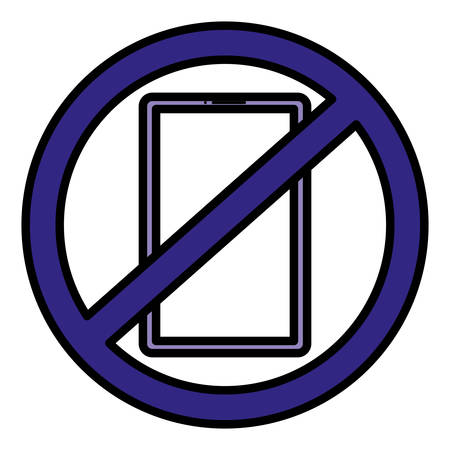 smartphone device with denied symbol vector illustration design Çizim