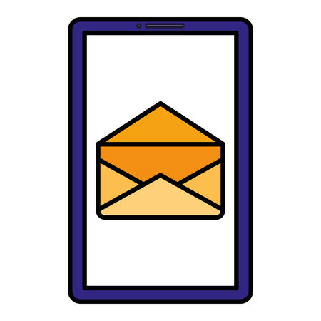 smartphone device with envelope vector illustration design Ilustrace