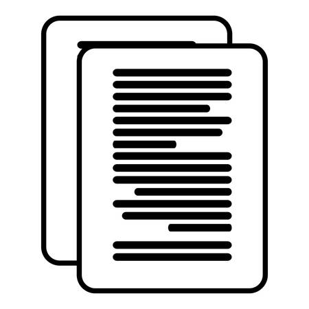 paper document isolated icon vector illustration design
