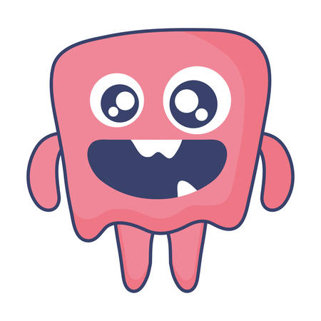 crazy monster comic character vector illustration design