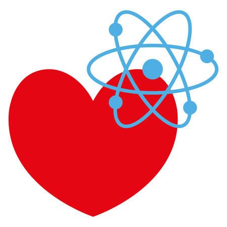 heart cardio with atom molecule vector illustration design Foto de archivo - 124746382