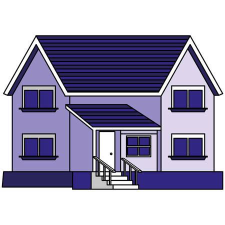house building facade icon vector illustration design