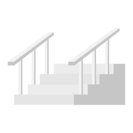 house stairs isolated icon vector illustration design Foto de archivo - 124746470