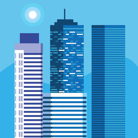 buildings construction cityscape scene vector illustration design Imagens - 124723779