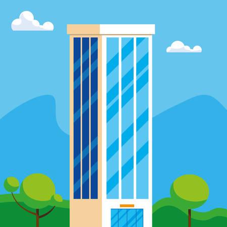 building construction city scene vector illustration design