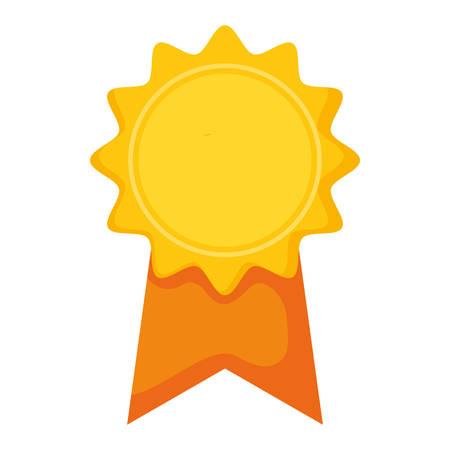 medal stamp award icon vector illustration design Reklamní fotografie - 124723932