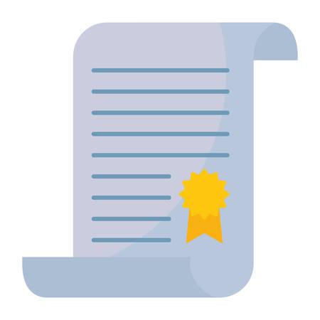 graduation certificate with medal vector illustration design Çizim