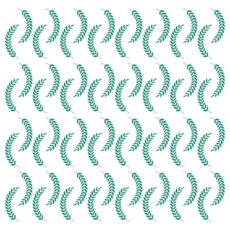 wreath leafs premium pattern vector illustration design