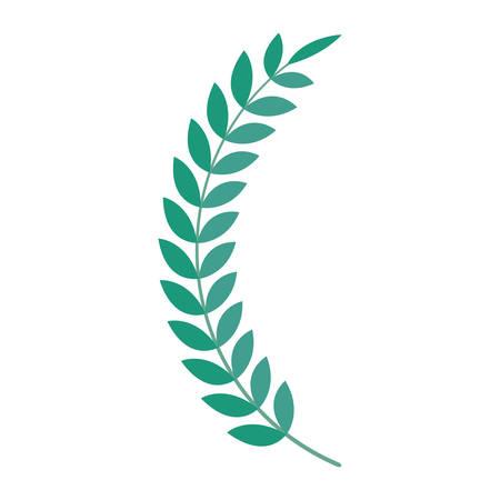 wreath leafs premium icon vector illustration design